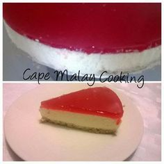 Cape Malay Cheesecake     Cheesecake  Quick and easy treat to make for you family this weekend  Ingredients: 1 packet tennis biscuits, crush...