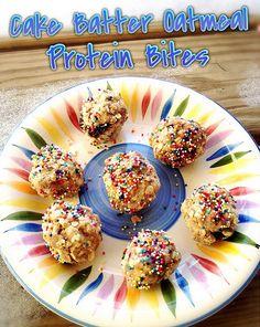 Recipe ReDux: Vegan + Gluten-Free Cake Batter Oatmeal Protein Bites | @fairyburger @ fairyburger