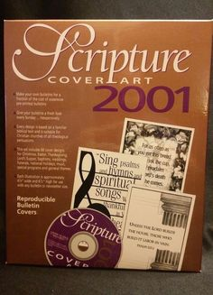 Scripture Cover Art 2001 PC CD-ROM Bulletin Covers Christian Graphics Customize #CommunicationResourcesInc