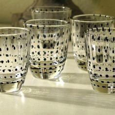 Black Polka Dot Shot Glasses Set