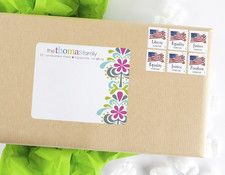 mailing label - fleur feliz - splash - erin condren