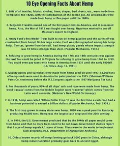 A few good things to know. More sustainable hemp products please!