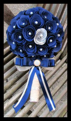 Bespoke royal blue brides bouquet www.facebook.com/flowers.eb