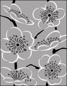 Click to see the actual JA56 - Blossom stencil design. - for roller blind in J's study??