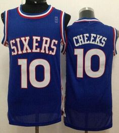 NBA Sixers 10 Cheeks Blue New Revolution 30 Jerseys 93d11b25d