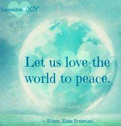 Peace quote via www.Facebook.com/IncredibleJoy