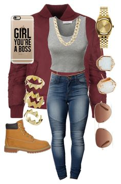 """""""Untitled #181"""" by goddesstillerr on Polyvore featuring WearAll, LE3NO, Timberland, Kendra Scott, Charlotte Russe, Casetify, Nixon, Stella & Dot and Pixie Grey"""