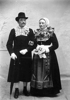 Swedish newlyweds Björs and Anbo, 1901