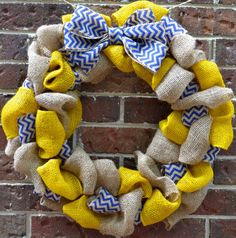 High School/College Burlap Wreath by KsSouthernCharm on Etsy