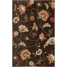 1000 Images About Area Rugs On Pinterest Brown Floral