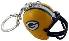 Green Bay Packers Helmet Keychain Green Bay Packers Helmet, Packers Gear, Packers Football, Football Team, Football Helmets, Novelty Socks, Novelty Gifts, Major League, Bicycle Helmet