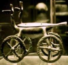 Etruscan toy with wheels c.BC7th CT Tarchna (Roman Tarquinii or modern Tarquinia)