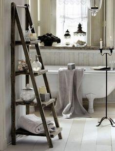 Toque rústico para el baño