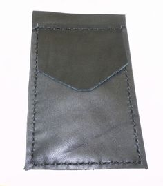 Black Leather Pocket Protector utility sleeve small