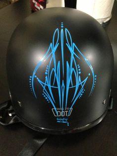 Rob Valentini Valentini Pinstriping another helmet