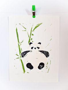 Panda screen print