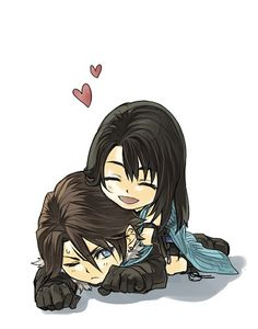Final Fantasy VIII - Squall Leonhart x Rinoa Heartilly. Just like me and the husband, except the other way around.