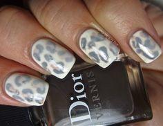 white leopard nails!