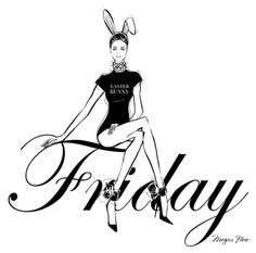Happy Friday and a happy Easter. Megan Hess Illustration, Illustration Girl, Hello Friday, Happy Friday, Kerrie Hess, Babe Quotes, Style Quotes, Face Sketch, Inspirational Artwork