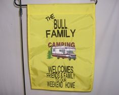 Truck Camper Personalized Garden Flag Shows An Inviting Camping