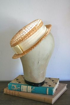 vintage straw hat  OPEN FIELD natural straw fedora hat by MsTips, $18.00