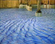 Fantastic illusion flooring by Heike Weber. http://www.heikeweber.net/installations_en.html