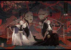 """長乃 on Twitter: """"【衣装捏造】源氏重宝の妖退治… """" Anime Guys, Manga Anime, Anime Art, Yandere Boy, Character Art, Character Design, Manga Characters, Touken Ranbu, Anime Comics"""