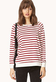 Shore Thing Striped Sweatshirt | FOREVER 21 - 2000109862