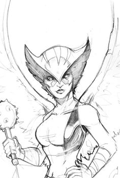 Hawkgirl by Peter Nguyen * Gorgeous!!!