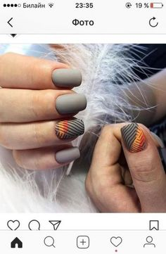 New nails design matte grey 44 ideas Trendy Nail Art, Stylish Nails, New Nail Designs, Pedicure Designs, Gel Nails French, Pedicure Nail Art, Super Nails, Holiday Nails, Perfect Nails