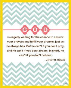 Pray, dream
