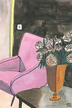 I lovethese illustrations from Dutch artistBodil Jane. Her female subjects bring such attitude and sass andtheir living spaces possess so much beautiful detail and character, I can't help but want to be a part of her make believe world.