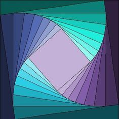 Twisted Log Cabin block foundation paper pieced pattern in Pdf. | LinleysDesigns - Patterns on ArtFire
