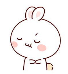 LINE Creators' Stickers - Happy bunny Sunny 2 Example with GIF Animation Cute Cartoon Drawings, Cute Kawaii Drawings, Cute Love Gif, Cute Love Memes, Chibi Cat, Cute Chibi, Cute Anime Character, Cute Characters, Cute Screen Savers