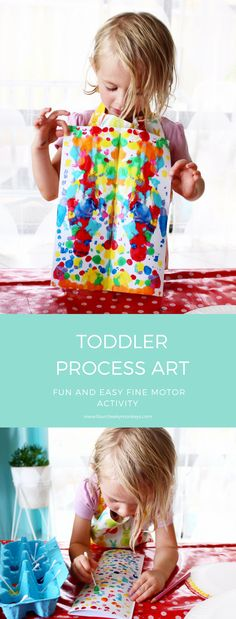 Process Art for Toddlers – Painting via @4cheekymonkeys