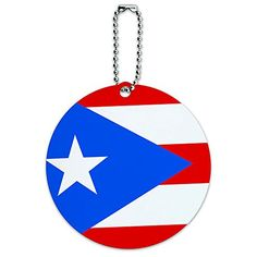 Puerto Rico National Country Flag Round Luggage ID Tag Card Suitcase CarryOn * Check out this great product. Note:It is Affiliate Link to Amazon.