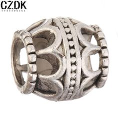 BE-156 DIY Beads Antique Silver-Plated Alloy Beads Charms for European Bracelets Metal Beads Loose Beads