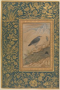 """""""Diving Dipper and Other Birds"""", Folio from the Shah Jahan Album Painting by Mansur  (active ca. 1589–1626) Object Name: Album leaf Date: recto: ca. 1610–15; verso: ca. 1535–45 Geography: India Culture: Islamic Medium: Ink, opaque watercolor, and gold on paper Dimensions: H. 15 3/8 in. (39.1 cm) W. 10 1/4 in. (26 cm) Classification: Codices Credit Line: Purchase, Rogers Fund and The Kevorkian Foundation Gift, 1955 Accession Number: 55.121.10.16"""
