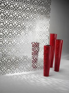 Decorative Sheet Metal Partition by De Castelli Decor, House Interior, Metal Sheeting, Bed Design, Contemporary Interior, Decorative Sheets, Modern Room Divider, Architectural Elements, Contemporary Room