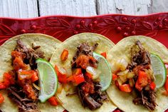 A Bountiful Kitchen: Brisket Tacos with Mango Barbecue Relish