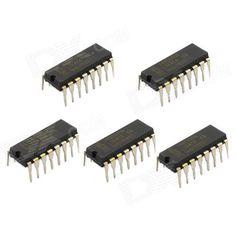 Jtron IC Integrated Circuit / 74HC595N DIP-16 - Black (5 PCS)