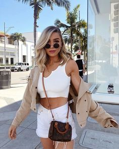 white v cut tank wide strap workout tank ribbed tank top v cut yoga crop top sleeveless crop blouse white rib sleeveless crop tank Mode Outfits, Chic Outfits, Summer Outfits, Fashion Outfits, Valentine's Day Outfit, Outfit Of The Day, Selfie Foto, Mode Streetwear, V Cuts