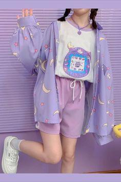 Mode Harajuku, Harajuku Fashion, Lolita Fashion, Cute Casual Outfits, Pretty Outfits, Girl Outfits, Fashion Outfits, Pastel Fashion, Cute Fashion