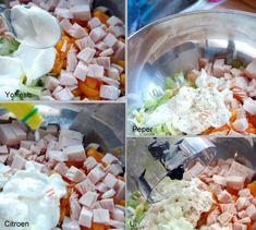 Recipe by Nena: Kipsalade van Sonja Bakker ⋆ Beautylab. Fodmap, Barbecue, Healthy Life, Salads, Paleo, Good Food, Food And Drink, Rice, Menu