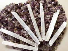 Selenite Wands A selenite wand is a versatile crystal tool used for energy cleansing, meditation, healing and more. Referred to as… Selenite Crystals, Energy Cleansing, Wands, Meditation, Healing, Food, Walls, Essen, Meals