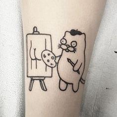 funny tattoos ~ funny tattoos - funny tattoos fails - funny tattoos humor - funny tattoos for men - funny tattoos small - funny tattoos clever - funny tattoos humor hilarious - funny tattoos fails hilarious Doodle Tattoo, Poke Tattoo, Cat Tattoo, Tattoo Drawings, Back Tattoos, Mini Tattoos, Future Tattoos, Body Art Tattoos, Pretty Tattoos