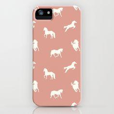 Horse Print (Warm Taupe) iPhone & iPod Case by Jacqueline Maldonado - $35.00