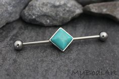 Turquoise Industrial Piercing Jewelry