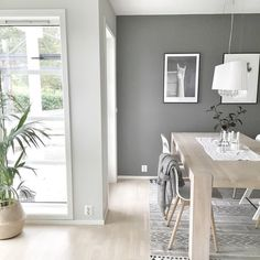 lys antikkgrå - grå skifer Interior Wall Colors, Interior Walls, Global Home, Living Room Colors, Grey Walls, Decorating Blogs, House Painting, Interior Inspiration, Decoration