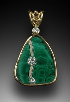 malachite pendant  Simply Unique Jewelry Designs